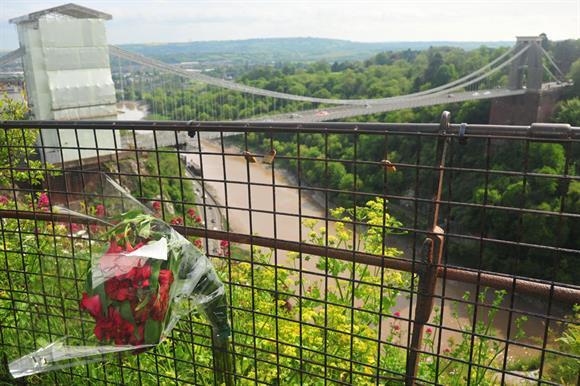 Avon Gorge in Bristol, where Olive Cooke was found dead
