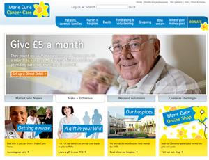 Marie Curie Cancer Care website