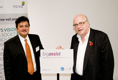 Dharmendra Kanani and Sir Stuart Etherington