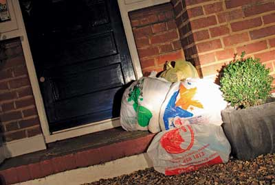 Doorstep collection bags
