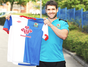 Blackburn Rovers FC shirt featuring the Prince's Trust