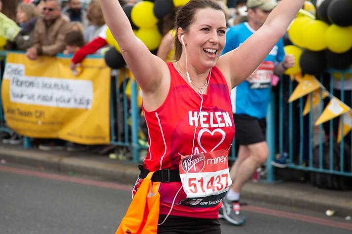 A British Heart Foundation marathon runner