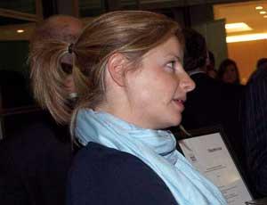 Georgie Fienberg, international director of AfriKids, in conversation at the awards