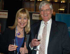Sian Lloyd with Jeremy Wilson, vice chairman of Barclays Commercial Bank, host of  the awards