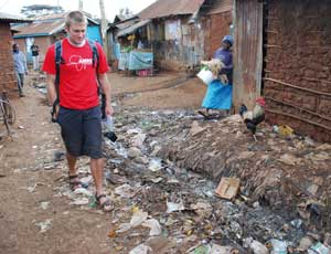 Rob Green, who couldn't make it to the awards, pictured in Nairobi, Kenya