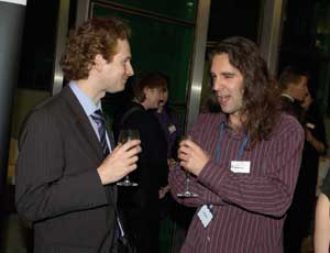 Toby Blume, chief executive of Urban Forum (right) with Andy Ricketts of Third Sector at the awards night