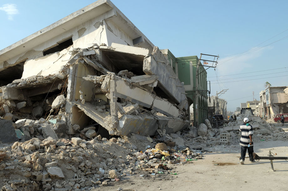 The 2010 earthquake caused extensive damage in Haiti
