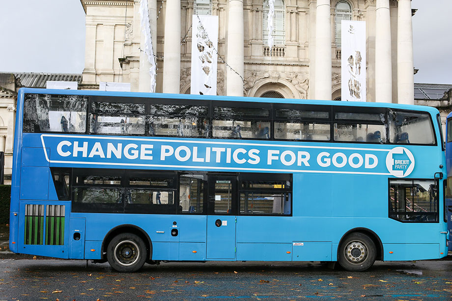 The Brexit Party's battlebus (Photograph: Stringer/Anadolu Agency via Getty Images)
