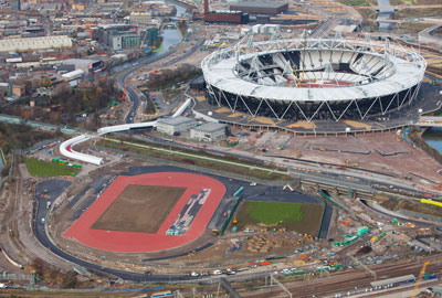 The Olympic park site