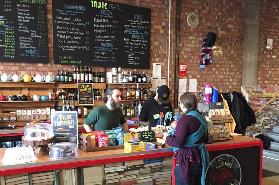Café Indiependent in Scunthorpe, a previous recipient of Power to Change money