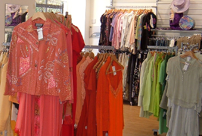 Charity shops: on a roll