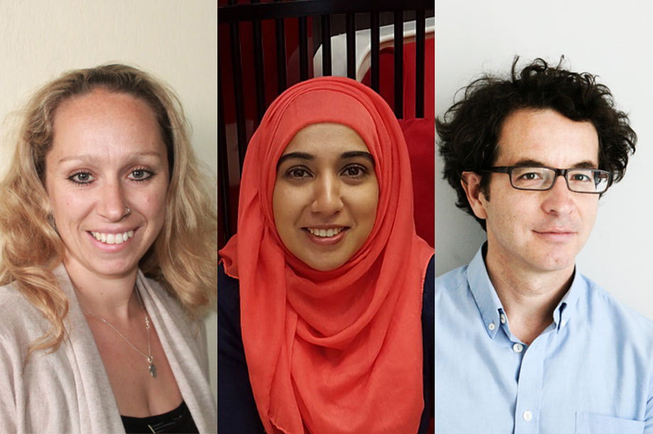 New fellows (left to right): Sarah Galvin, Samina Ansari and Almir Koldzic