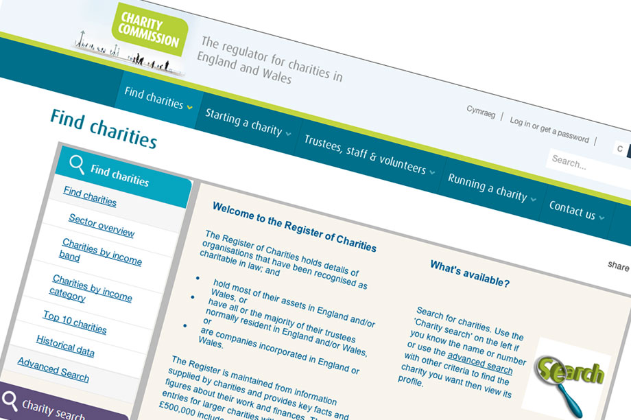 Charity Commission online register