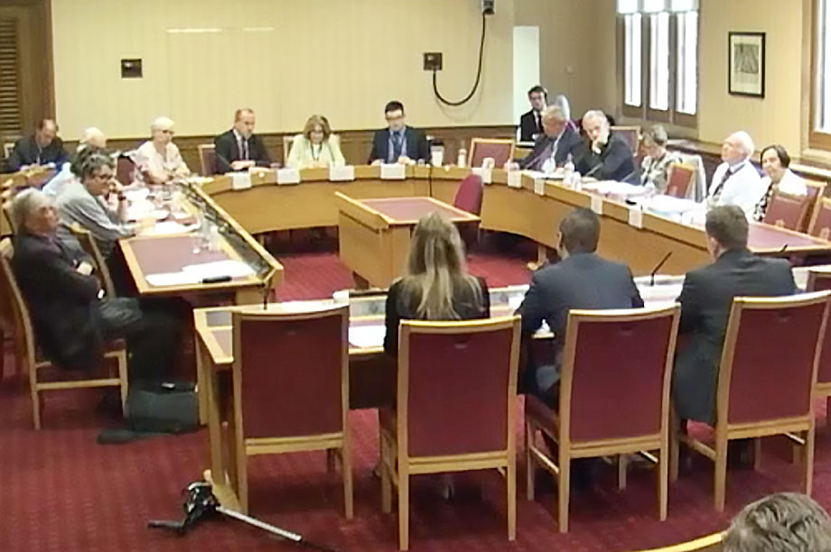 The committee in session
