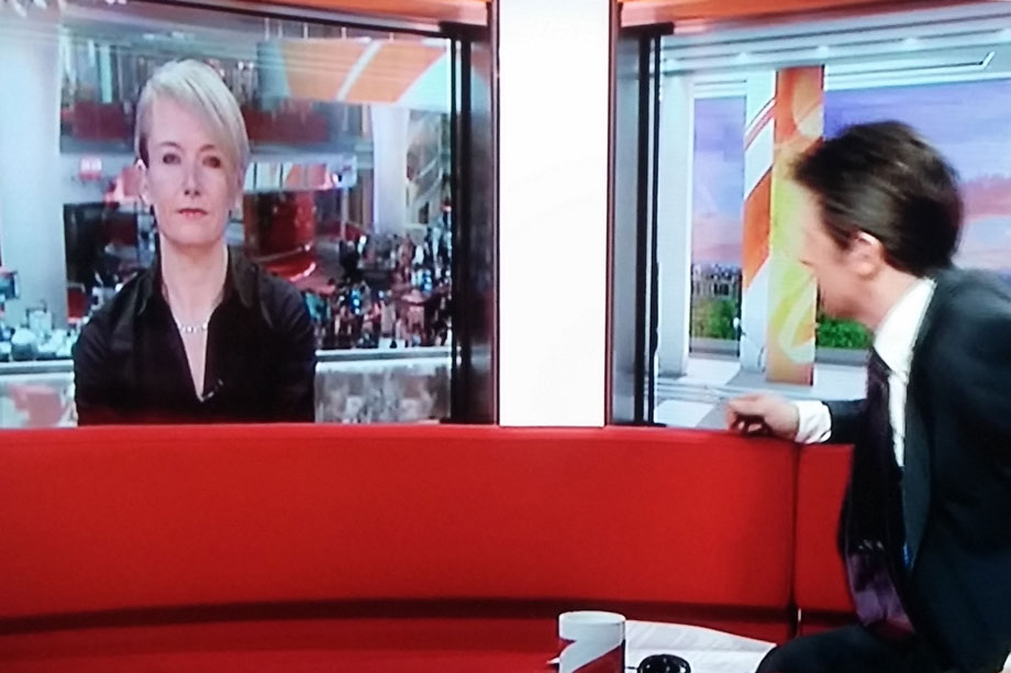 Coverage on BBC Breakfast