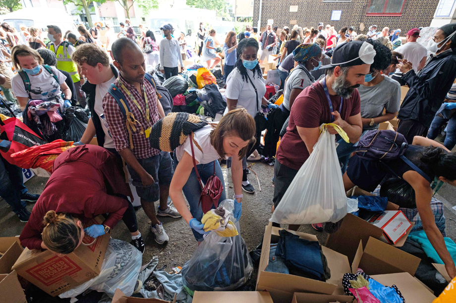 Help in the wake of the Grenfell Tower tragedy