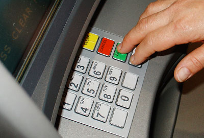 Giving possible through ATMs