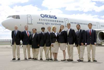 Orbis staff in new uniforms