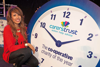 Jade Ewen at the launch of the charity partnership