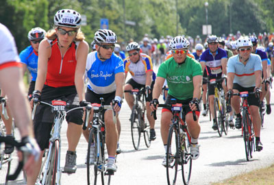 Cycling events on the increase
