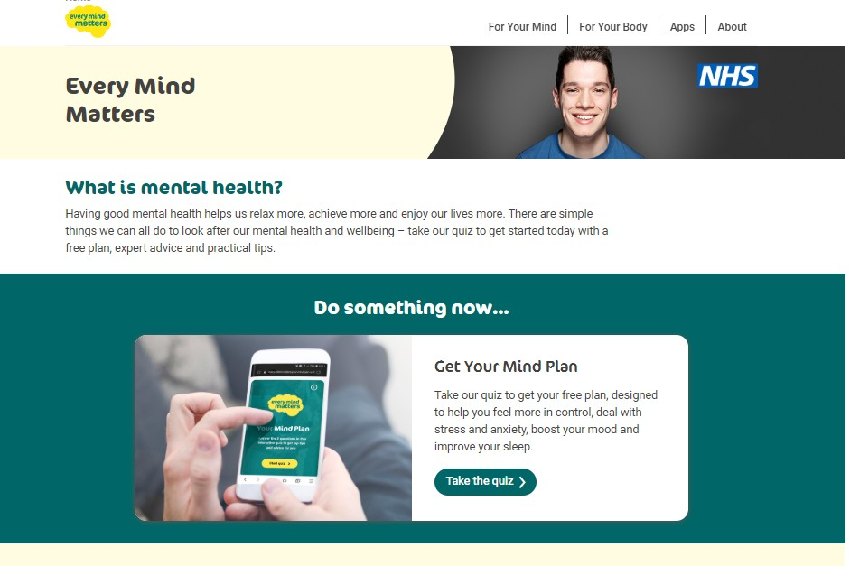 The Every Mind Matters website
