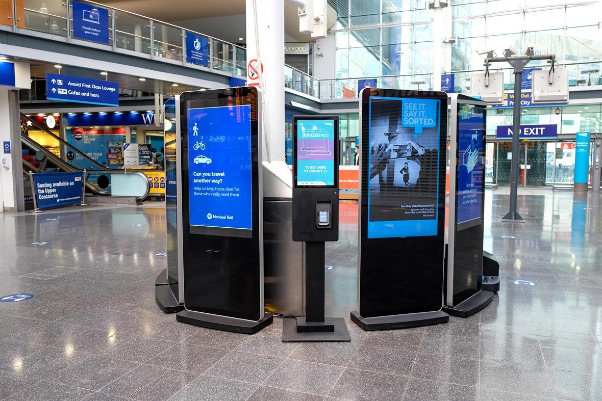 Evoke Creative's digital donation kiosks