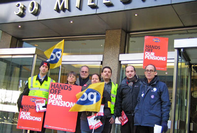 Charity Commission is severely disrupted today as staff take part in a strike over proposed changes to public sector pensions