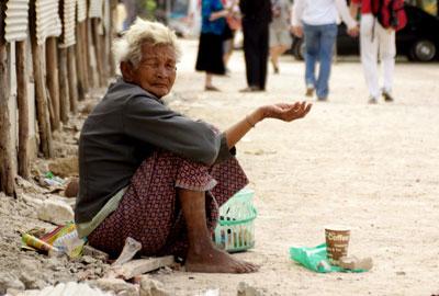 Poverty charities help the world's poor