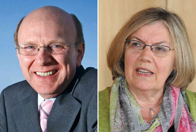 CAF chief executive John Low and Cathy Pharoah, professor of charity funding at Cass Business School