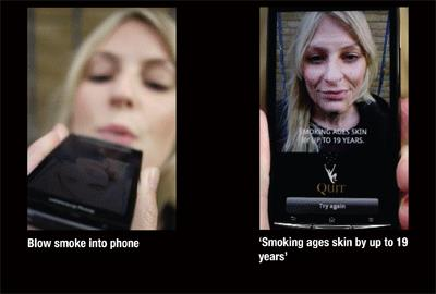 Quit UK app shows smokers how their habit makes them look older