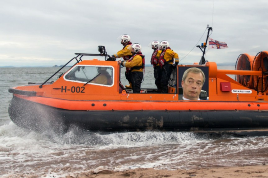 How The Flying Farage might look (Photograph: Simon Harris)