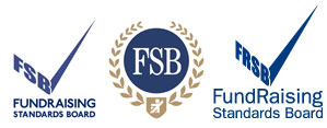 Old and new logos (left and right); Federation of Small Businesses logo (centre)