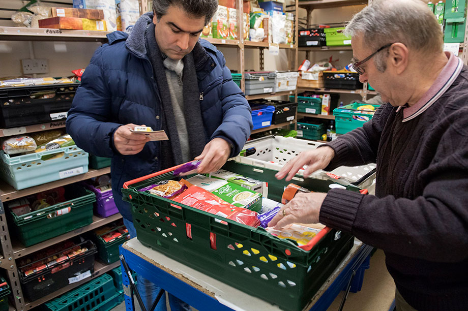 Tameside East food bank, supported by the Trussell Trust (Photograph: Anthony Devlin/Getty Images)
