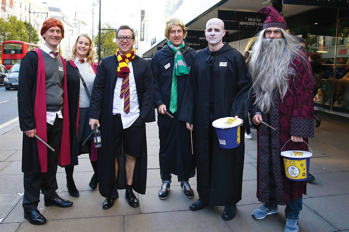 Harry Potter characters pose while raising money for Children in Need (Photograph: Shutterstock)