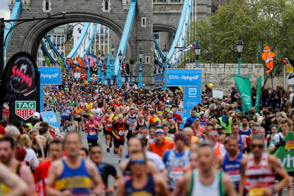 London Marathon 2019. Photo by Dominika Zarzycka/NurPhoto via Getty Images