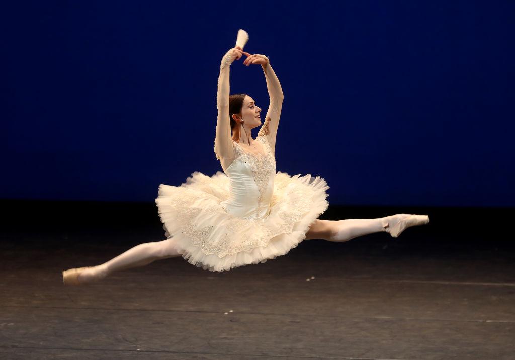 "Marianele Nunez dances Don Quixote Pas de Deux during the ""The Royal Ballet: Back on Stage"" at The Royal Opera House, October 2020. Photo: Chris Jackson/Getty Image)"
