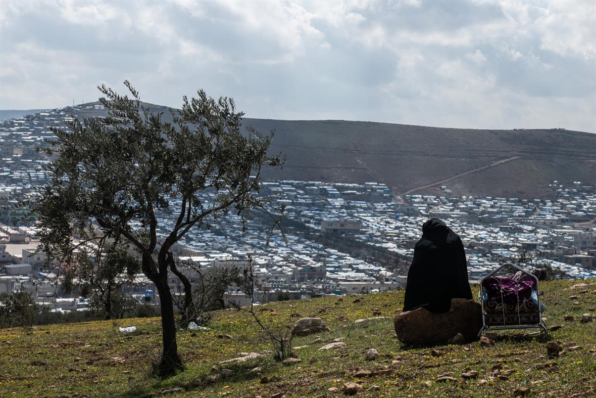 A camp in Idlib, Syria (Photograph by Burak Kara/Getty Images)
