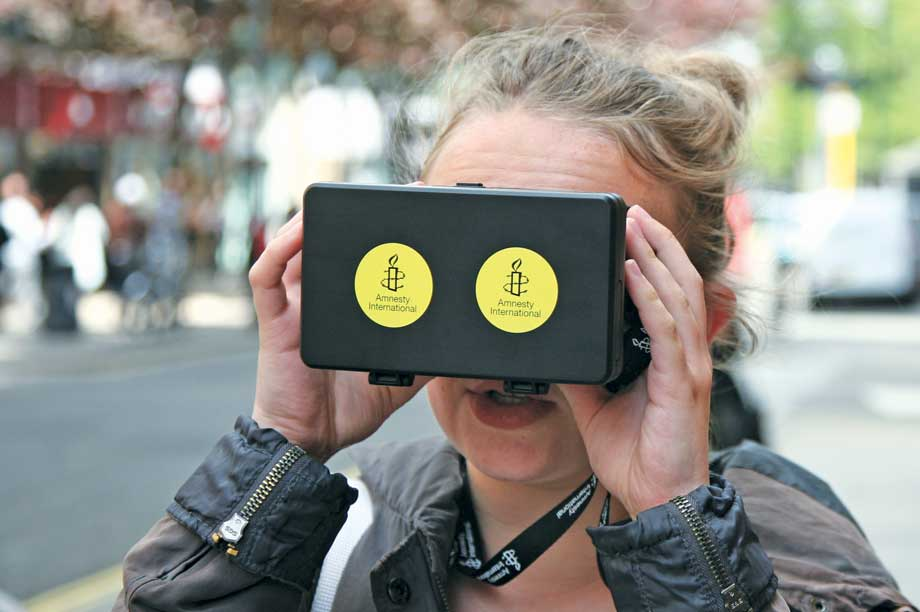 Use of VR, such as in Amnesty's Aleppo campaign, can encourage pubiic involvement