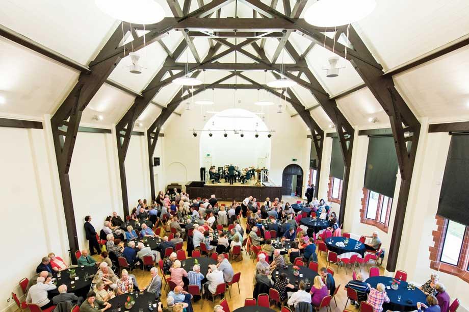 The restored hall