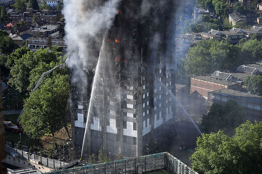 The Grenfell disaster (Photograph: Leon Neal/Getty Images)