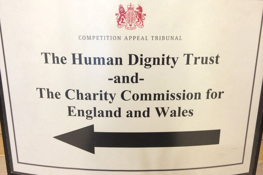 The Human Dignity Trust's hearing at the charity tribunal