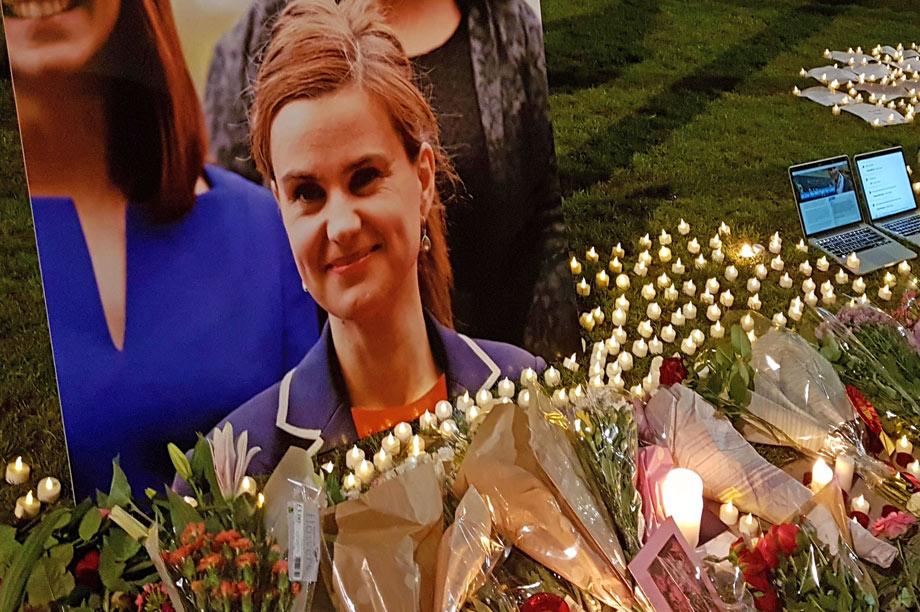 Jo Cox: murdered last June