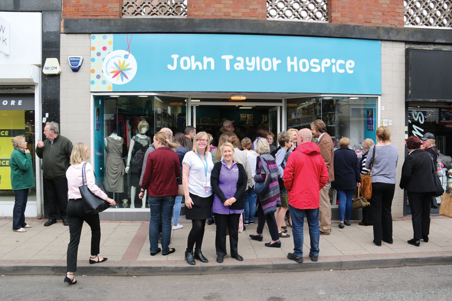 John Taylor Hospice's first charity shop in Erdington