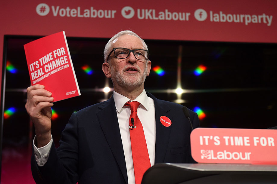 Jeremy Corbyn launches Labour's manifesto (Photograph: OLI SCARFF/AFP via Getty Images)