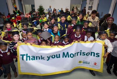 Children at a primary school in Barking supported by the partnership