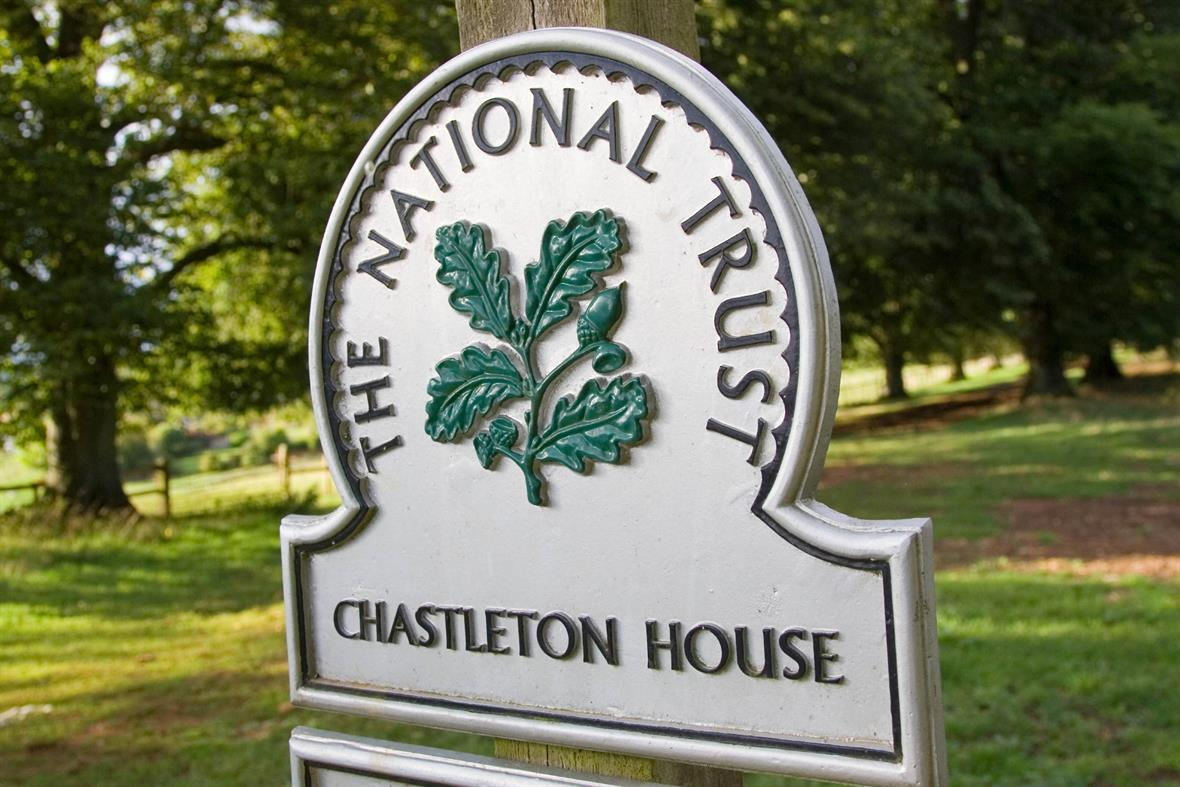 A National Trust sign at Chastleton House in Oxfordshire (Photograph: Tim Graham/Getty Images)
