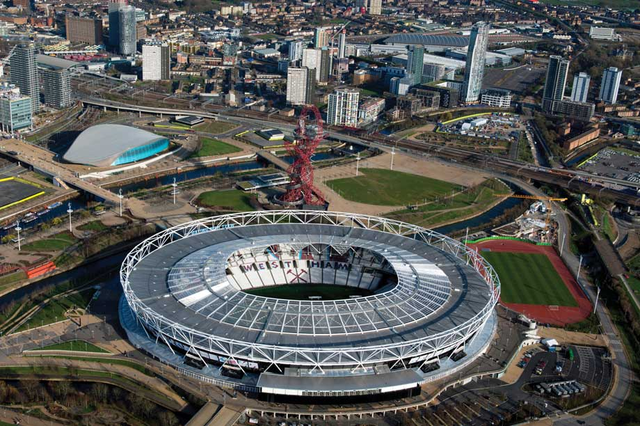 Olympic Park: stadium now rented by West Ham United