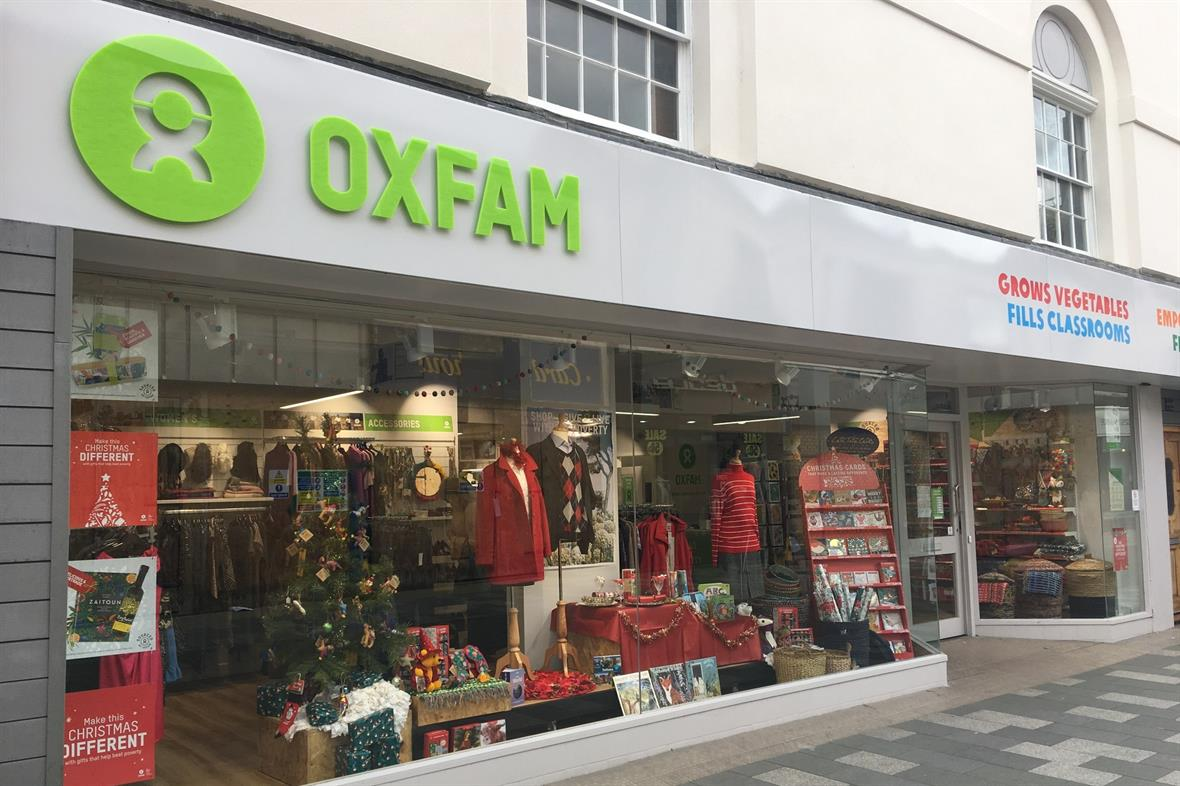 Oxfam's shop in Maidenhead (Photograph: Maria Tate-Bright/Oxfam)