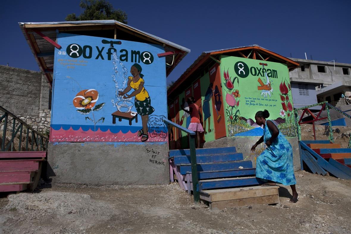 An Oxfam project in Haiti, one of the countries it will be withdrawing from (Photograph: Jonathan Torgovnik/Getty Images)