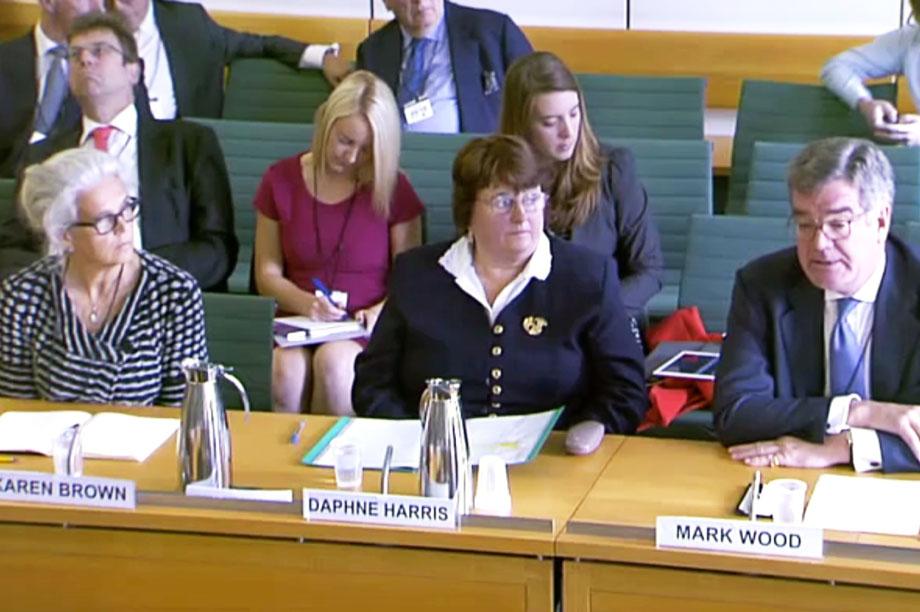 Karen Brown, Daphne Harris and Mark Wood